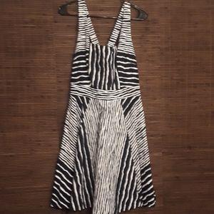 Eva Mendes NY & Co Courtney Striped Circle Dress